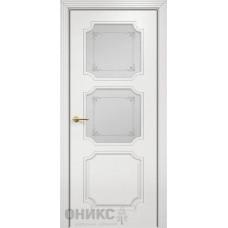 Межкомнатные двери Оникс Lite Валенсия Эмаль белая МДФ Сатинат белый