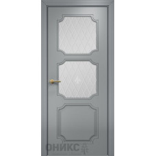 Межкомнатные двери Оникс Lite Валенсия Эмаль RAL 7040 МДФ Сатинат белый