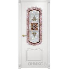 Межкомнатные двери Оникс Lite Венеция Эмаль Белая по МДФ Фотопечать