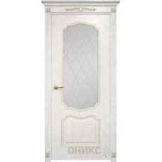 Межкомнатные двери Оникс Lite Венеция Эмаль Белая Сатинат Белый
