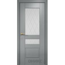 Межкомнатные двери Оникс Lite Версаль Эмаль по RAL 7040 Сатинат Белый
