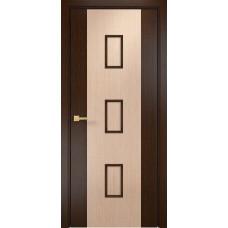 Межкомнатная дверь Оникс Комби Венге/Дуб беленый