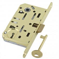 B01101.50.03.579 Замок AGB (АГБ) межкомнатный под ключ (латунь) MEDIANA EV. (инд.упак+B01000.40.03)