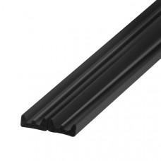 Самоклеящийся уплотнитель, Trelleborg (Треллеборг) профиль К-LIST (Е) 9x4 мм, черный (бобина 100 м)
