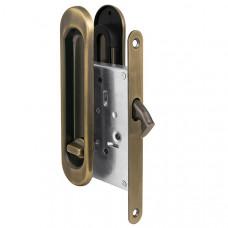 Защелка Punto (Пунто) с ручками для раздвижных дверей Soft LINE SL-011 AB