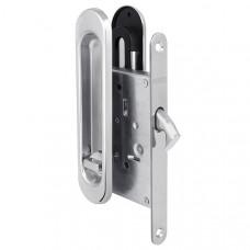 Защелка Punto (Пунто) с ручками для раздвижных дверей Soft LINE SL-011 CP