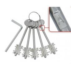 Комплект ключей Guardian (Гардиан) ЗК.703 (серия B) 5 кл. (кл. 104 мм) /128:5204/