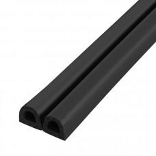 Самоклеящийся уплотнитель, Fuaro (Фуаро) D 9х7,5 мм, черный (100 м)