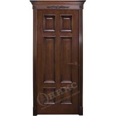 Дверь Оникс ГРАНД, Красное дерево с черной патиной (ПГ)