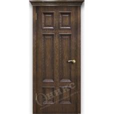 Дверь Оникс ГРАНД, Дуб коньячный, штапик Флора (ПГ)