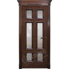 Дверь Оникс ГРАНД, Красное дерево с черной патиной (ПО)
