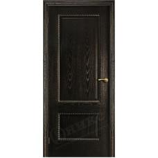 Дверь Оникс АЛЕКСАНДРИЯ 2, Черная эмаль (ПГ)