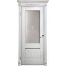 Дверь Оникс АЛЕКСАНДРИЯ 2, Патина серебро (ПО)