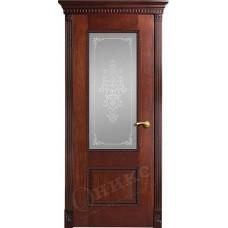 Дверь Оникс АЛЕКСАНДРИЯ 2, стекло Вензель (ПО)