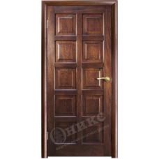 Дверь Оникс ВЕНА 2, Красное дерево с черной патиной (ПГ)