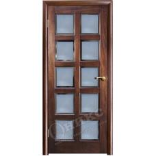 Дверь Оникс ВЕНА 2, Красное дерево с черной патиной (ПО)
