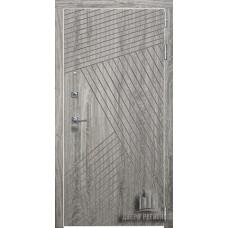 Дверь входная Nova, цвет дуб мелфорд грей софт, панель - nova цвет кантри горизонт321
