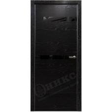 Дверь Оникс СИЛУЭТ, Черная эмаль с серебряной патиной (ПО)