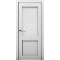 Дверь межкомнатная Cobalt 12 Серый Остекленная