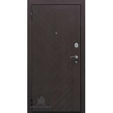 Дверь входная Вектор Лофт Х7, цвет горький шоколад, панель - вектор лофт х7 (пвх, lacobel белое) цвет кремовая лиственница321