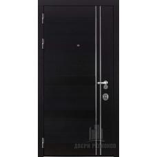 Дверь входная взломостойкая Сенатор Карбон, цвет черная мозаика, панель - стандарт цвет венге321