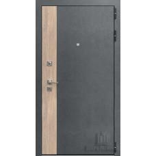 Дверь входная Бруклин, цвет серая штукатурка + дуб европейский красный, панель - бруклин цвет cандал светлый321