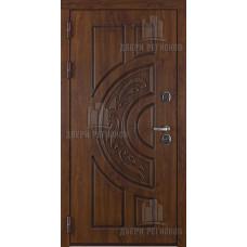 Дверь входная взломостойкая Атлант, цвет golden oak + черная патина, панель - стандарт цвет венге321