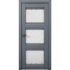 Дверь межкомнатная Cobalt 24 Антрацит Остекленная