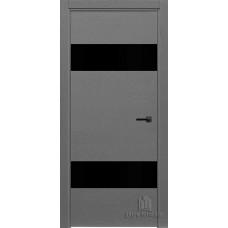 Дверь межкомнатная Duo Grigio (Ral 7015) Остекленная